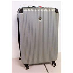 Travelers Club Hard Side Suitcase w/ 4 Wheels