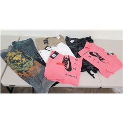 New Clothing: 2 Nike T-Shirts, Cargo Shorts, Route 66 Tee, etc. (Various Sizes)