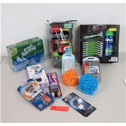 Toiletry Items - New Boxer Briefs, LED Lights, Gillette Razors, Soap, etc