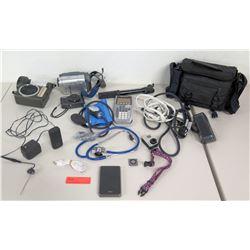 iPod Nano, Blood Pressure Monitor, Sony Camcorder, Cameras, etc