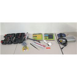 Lighting Digital Ballast, Socket & Wrench Set, New Sawzall Blades, Sanding Blocks, etc