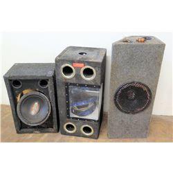 3 Box Speakers - Various Sizes