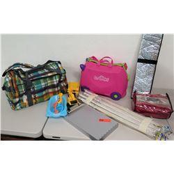 New DaKine Overnighter Bag, New Satin Sheets, Kid's Hard Case, Light Sabers, etc