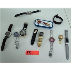 Qty 9 Watches - Ted Baker, Seiko, Armitron, San Francisco 49'ers, etc