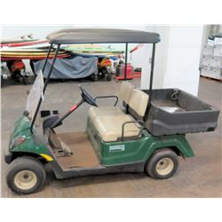 Two-Seater Golf Cart w/ Yamaha Utility Box, Adventurer One (no charger, batteries dead, untested)