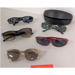 5 Pairs Sunglasses & 1 Case - Tori Burch, Ray-Ban, etc