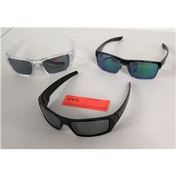 3 Pairs Oakley Sunglasses - 2 Black & 1 Clear