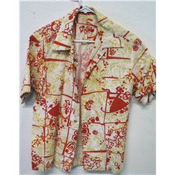 Vintage Aloha Shirt - G.V.H. Hawaiian Print, Orange Yellow, No Tags, Size Unknown