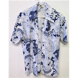 Vintage Aloha Shirt - Tropicana Hawaii, Blue & White, Size Unknown