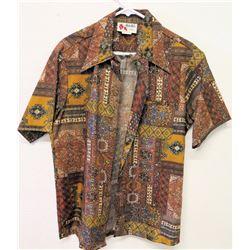 Vintage Aloha Shirt - Holo-Holo Hawaii, Brown Tones, Sz M