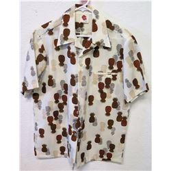 Vintage Aloha Shirt - Holo-Holo Hawaii, White w/Pineapple Motif, Sz M