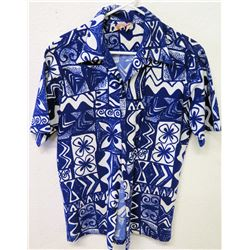 Vintage Aloha Shirt - Sears Hawaii, Blue White, Size Unknown