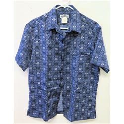 Vintage Aloha Shirt - Tori Richard Honolulu, Blue & White, Sz M