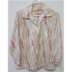 Vintage Multicolored Abstract Print Long Sleeve Shirt