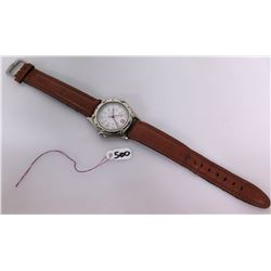 Men's Wenger Swiss Made Stainless Steel Watch w/ Leather Strap