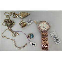 Adrienne Vittadini Watch, Brilliance Ring NWT, 2 Pendants on Chains, etc