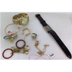 Raymond Weil Geneva Watch, Misc Earrings, Cuff Links, etc