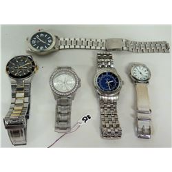 Qty 5 Men's Watches - Bulova, Minicci, Milano, etc