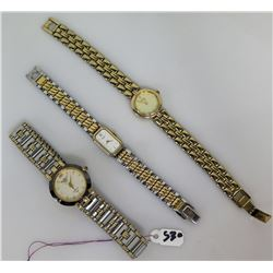 Qty 3 Ladies Watches - Citizen, Seiko, etc.