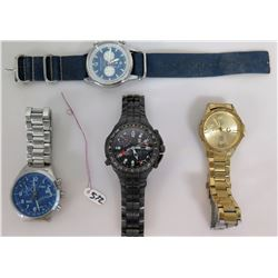Qty 4 Watches - Timex, TX770 Sports Chronograph, Jack Mason & Guess