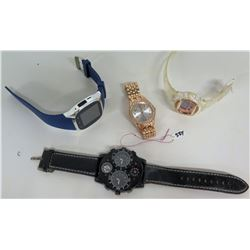 Qty 4 Watches - iTouch Smart Watch, Niko Japan, Rose Gold Crystal & Digital