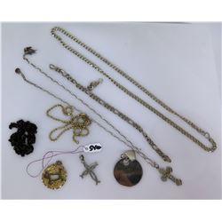 Qty 2 Necklaces, 2 Pendants, 925 Sterling Bracelet & Charms or Pendants