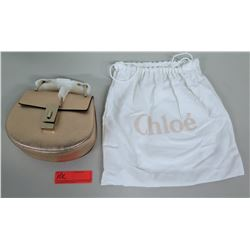 New Chloe Mini Gold Pebbled Leather Handbag w/ Dust Cover & Authentication Card