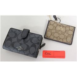 Coach Wallet (Black Monogram) & Coach Coin Purse (Brown Monogram)