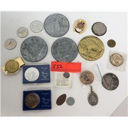 Qty 11 Coins, Money Clip, Tie Tack, Boxed Maine Souvenir Coins