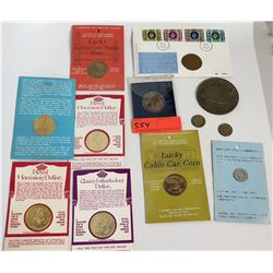 Qty 11 Coins - Royal Hawaiian Dollar, San Francisco Souvenir Coins, etc