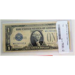 1928A $1 Silver Certificate Funnyback Dollar in Plastic Case