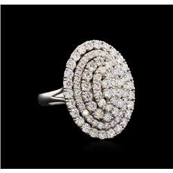 2.52 ctw Diamond Ring - 14KT White Gold