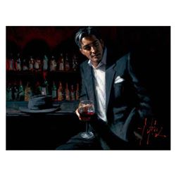 Man in Black Suit and Red Wine by Perez, Fabian