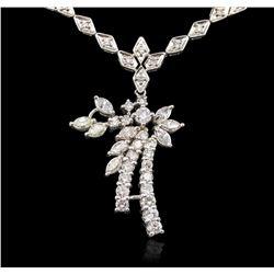 14KT White Gold 3.82 ctw Diamond Necklace