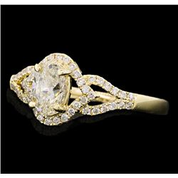 0.97 ctw Diamond Ring - 14KT Yellow Gold