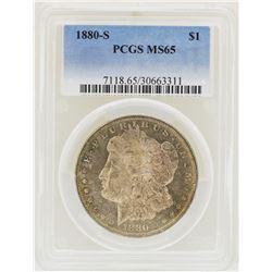 1880-S $1 Morgan Silver Dollar Coin PCGS MS65