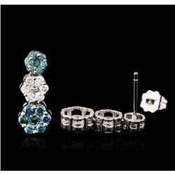 14KT White Gold 1.00 ctw Diamond Earrings