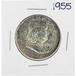 1955 Franklin Half Dollar Silver Coin