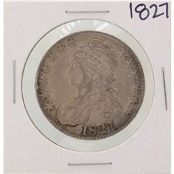 1827 Square Back No Knob Capped Bust Half Dollar Coin