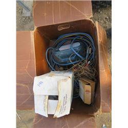 BOX OF 1GAL TANK SPRAYERS, DRAMM POWER SPRAYER & PARTS