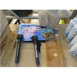 2 POND THERMOMETERS 1-2PK AQUATIC PLANTER 1 BARLEY STRAW TREATMENT