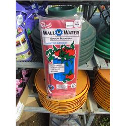 4 WALL WATER SEASON EXTENDERS, RED RETAIL $17.00 (4 TIMES BID PRICE)