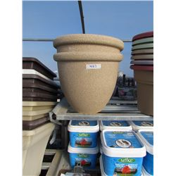 "2 ROUND PLASTIC POTS 14"" (2 TIMES THE BID PRICE)"