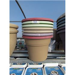 "7 ROUND PLASTIC POTS 14"" (7 TIMES THE BID PRICE)"