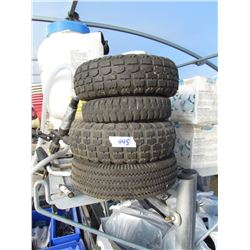4 SMALL WHEEL BARROW TIRES