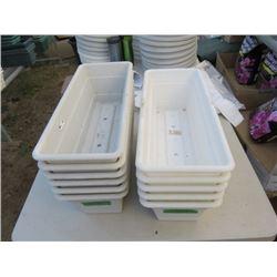 """11 planters 18""""x7.5"""" (11 times bid price)"""