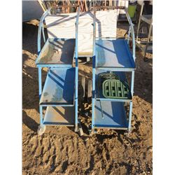 2 BLUE TROLLIES ON WHEELS (2TIMES BID PRICE)