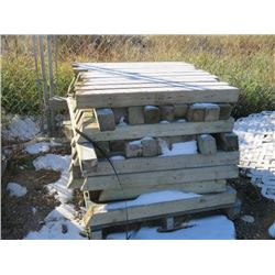 PALLET OF SHORT TREATED 4X4