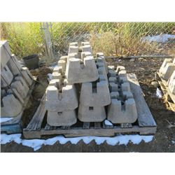 PALLET OF CINDER BLOCK POST SUPPORTS