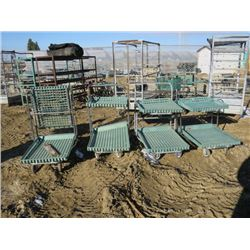 4 BEDDING PLANT CARTS ON WHEELS (4 TIMES BID PRICE)